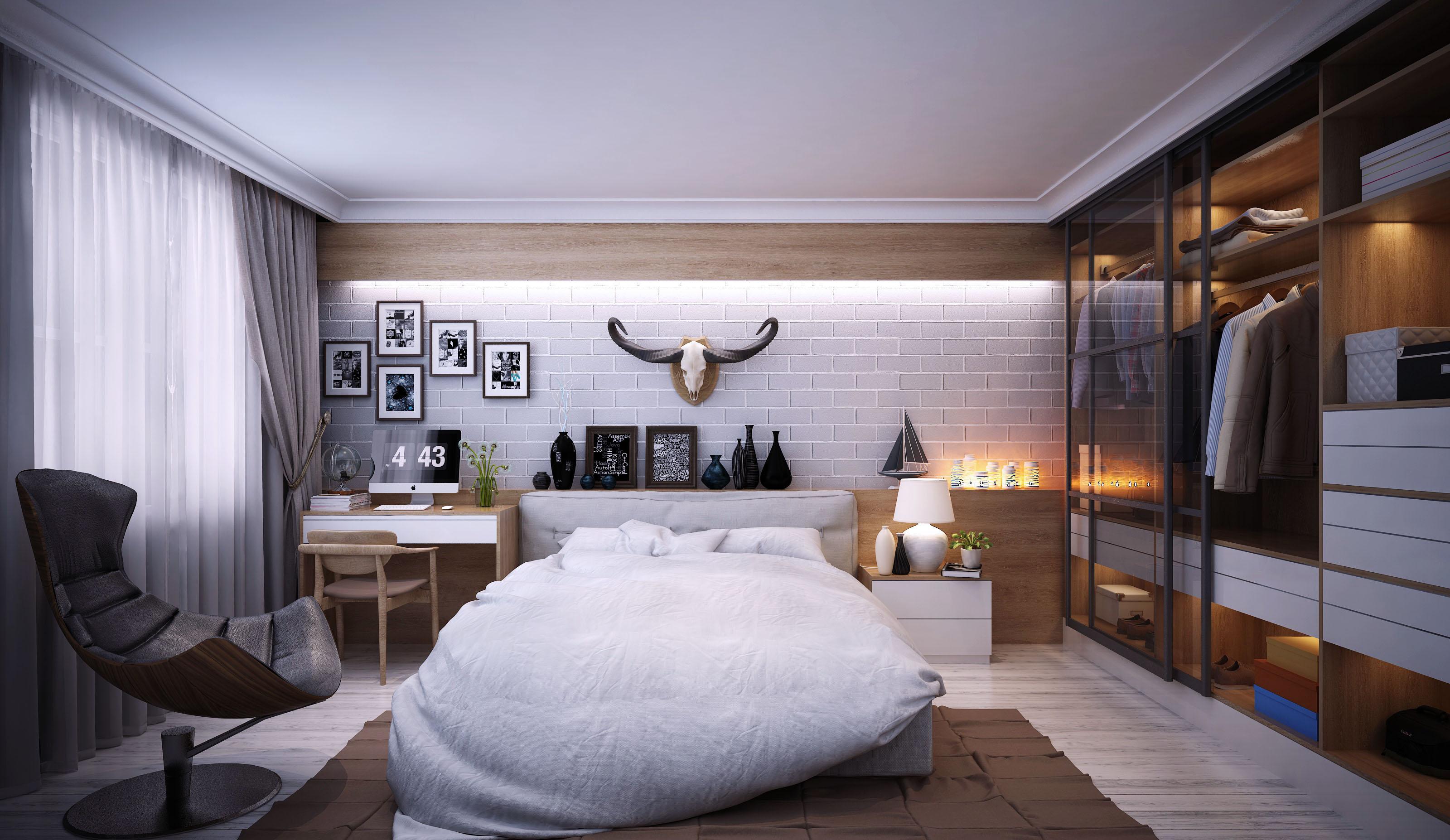 Hình ảnh thiết kế nội thất phòng ngủ đẹp hiện đại