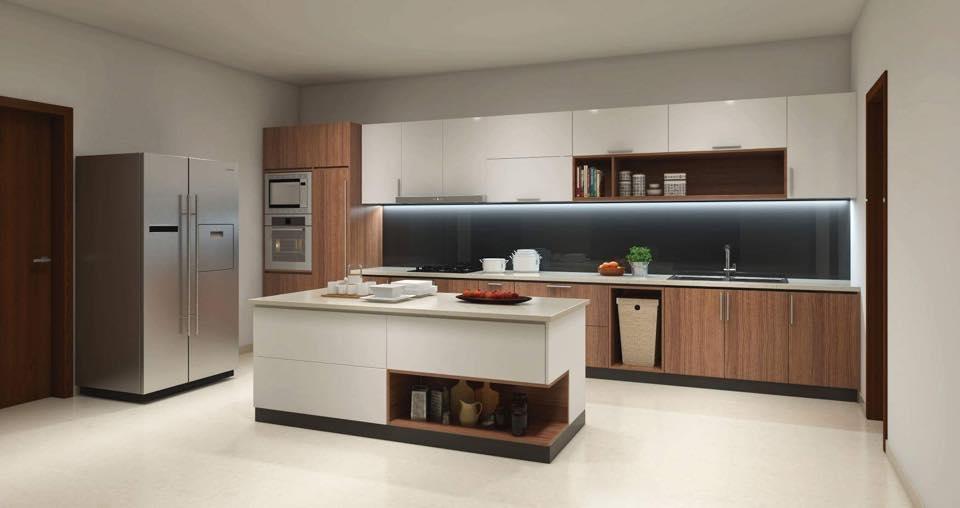 Tủ bếp kết hợp bàn soạn đẹp ở Hải Phòng