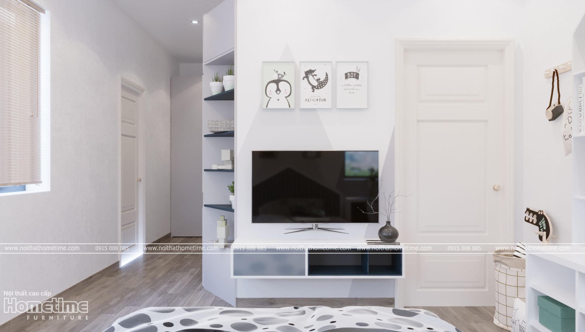 Thiết kế nội thất phòng ngủ - Phòng ngủ bé trai