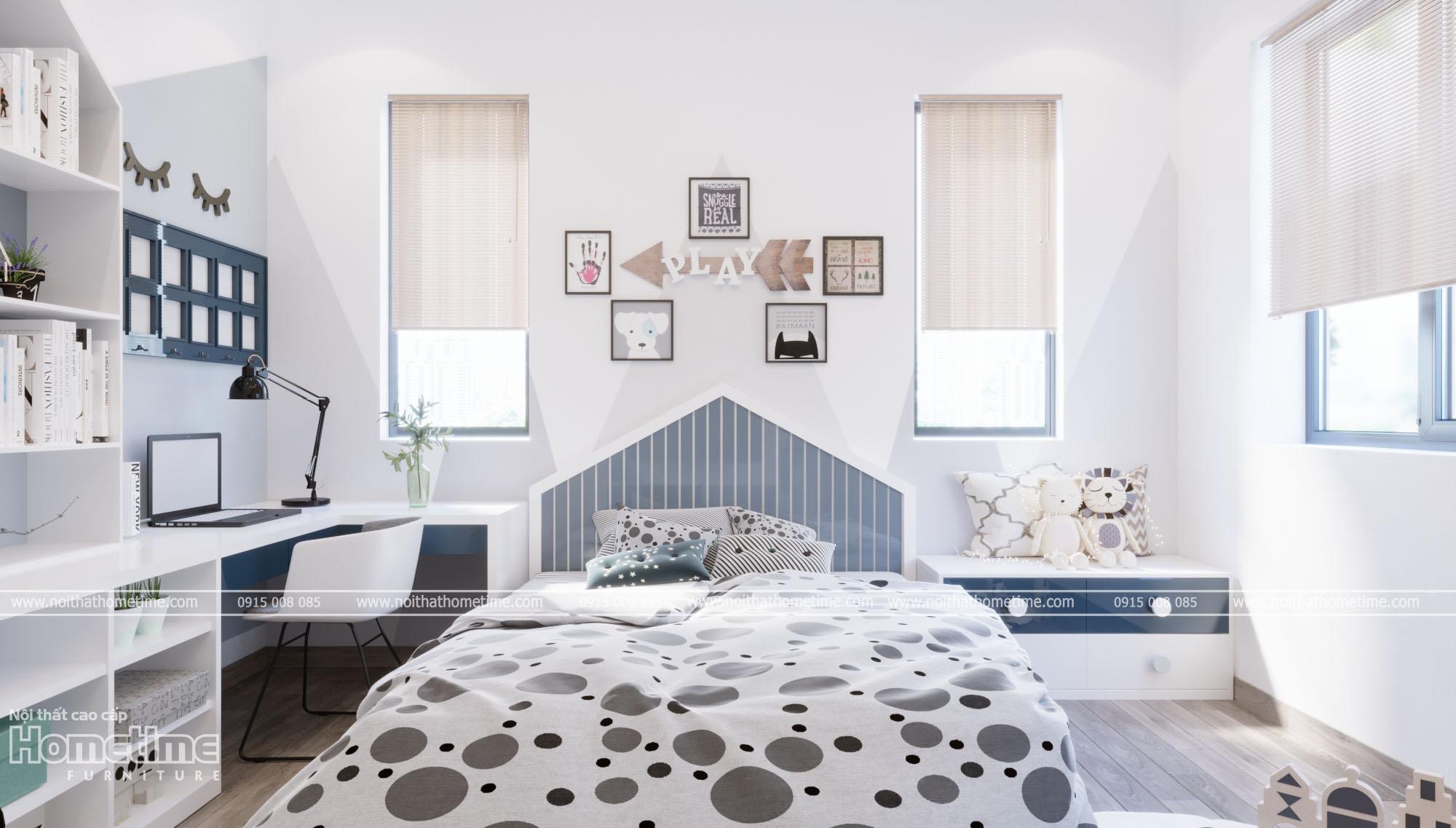 Thiết kế nội thất phòng ngủ bé trai - Decor trang trí đẹp