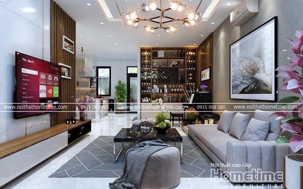 Thiết kế nội thất phòng khách biệt thự Vinhomes Imperia Hải Phòng 001