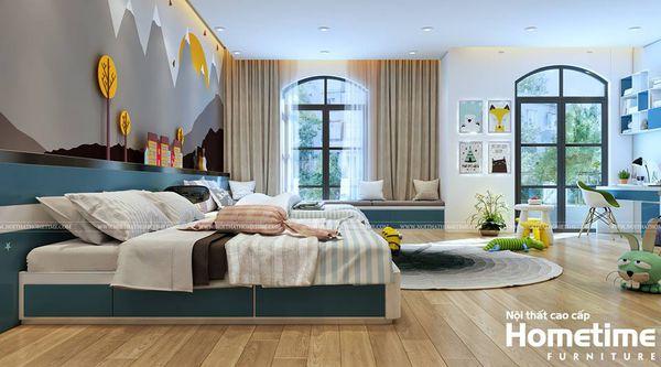 Thiết kế nội thất phòng ngủ trẻ em biệt thự Vinhomes Imperia Hải Phòng 001