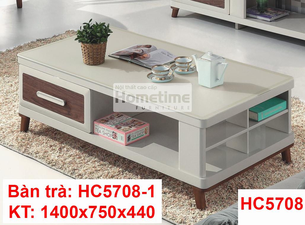 Bàn trà mặt hình chữ nhật hiện đại HC57081
