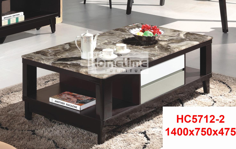 Bán bàn trà HC57122 mặt đá công nghiệp màu nâu cafe