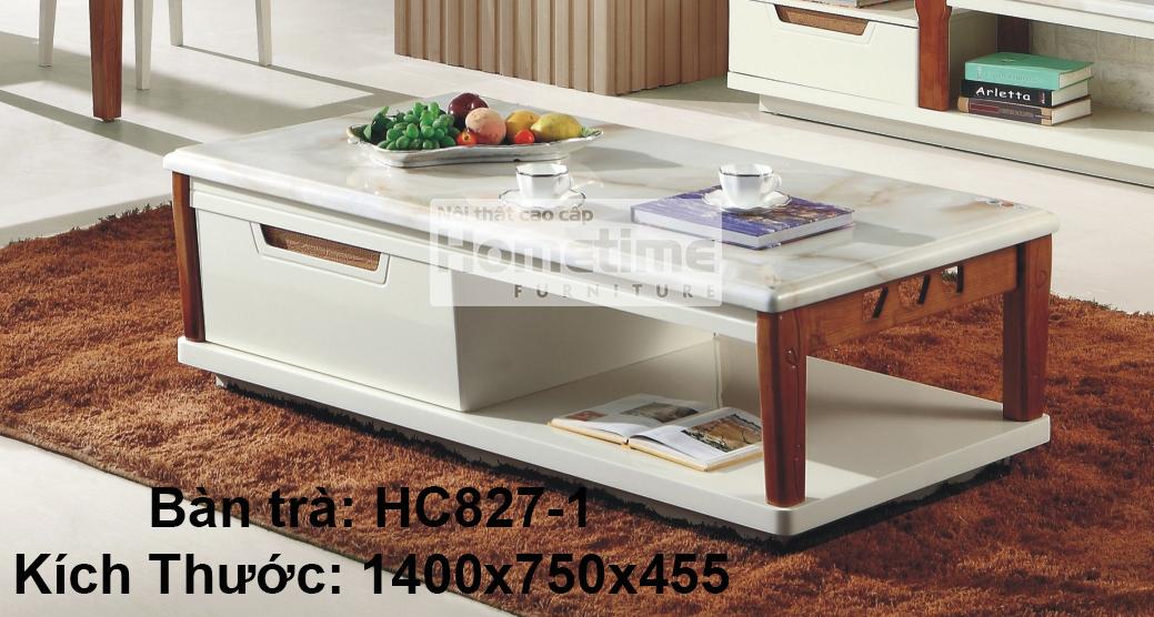 Bàn trà mặt đá vàng HC8271