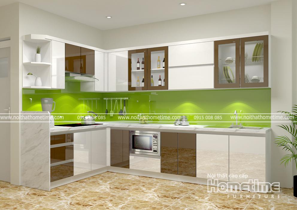 Tủ bếp nhựa AcrylicHải Phòng
