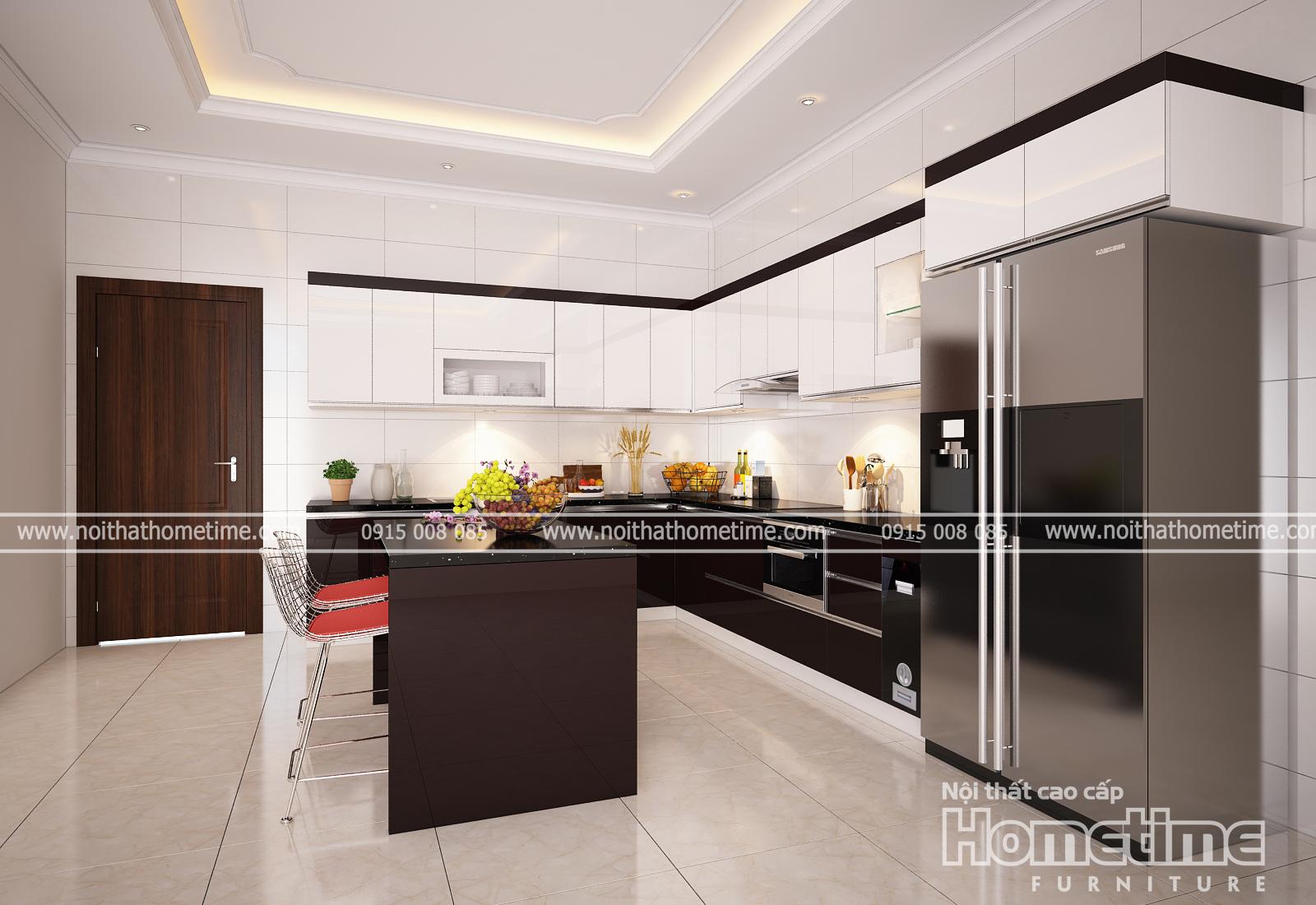 Mẫu tủ bếp đẹp nhà anh Tuyên TN02