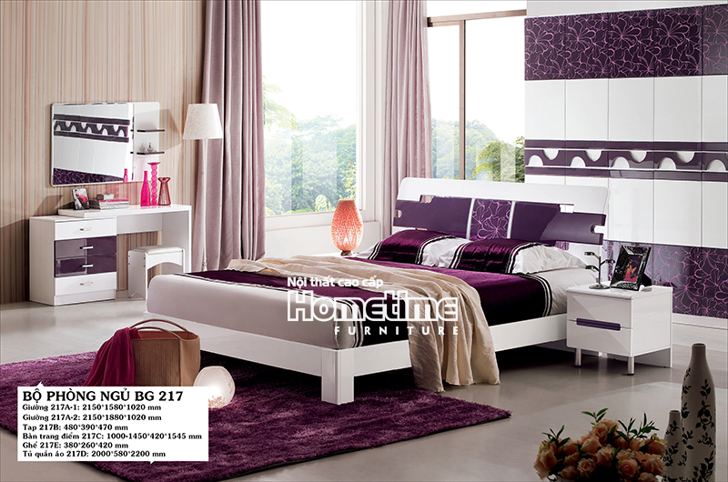 Giường ngủ đẹp hiện đại Hải Phòng - Bộ phòng ngủ đẹp GNK217