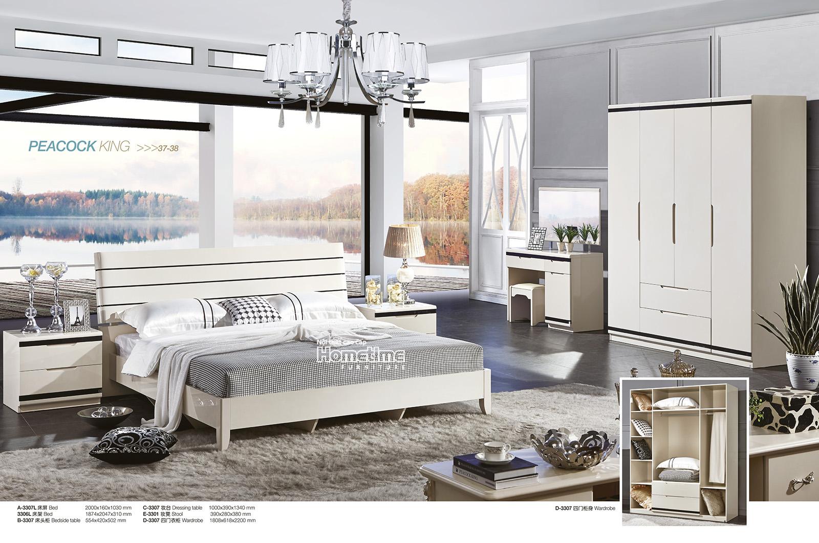 Giường ngủ 1m8 hiện đại đẹp Hải Phòng - GNK3307