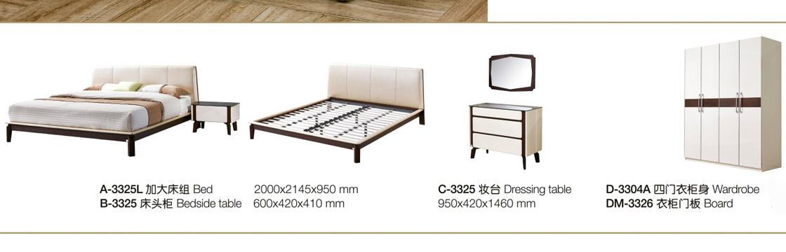 Giường ngủ nhập khẩu cao cấp Hải Phòng - GNK3325B