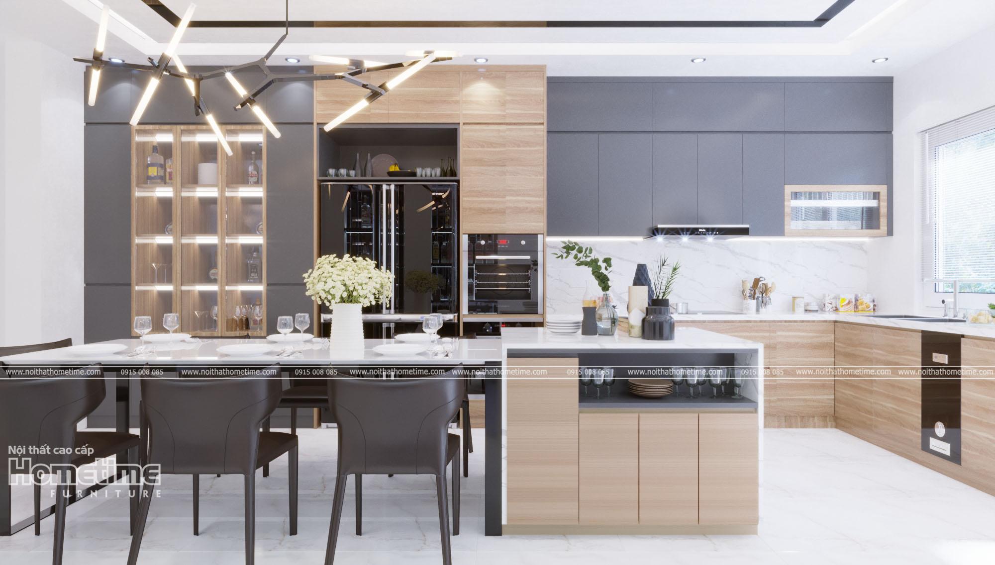Thiết kế các mẫu tủ bếp đẹp hiện đại tại Hải Phòng