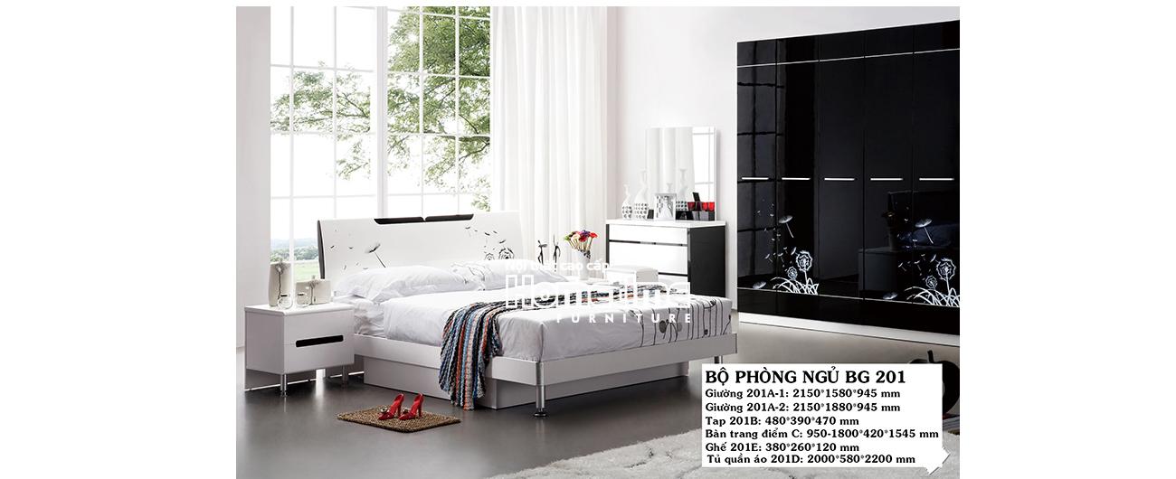 Giường ngủ hiện đại Hải Phòng - Bộ phòng ngủ đẹp GNK201