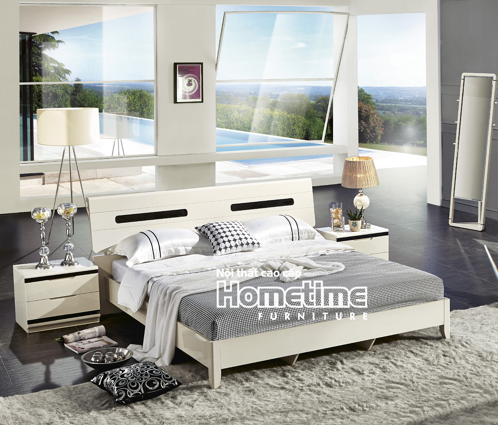Giường ngủ nhập khẩu hiện đại tại Hải Phòng - GNK3313