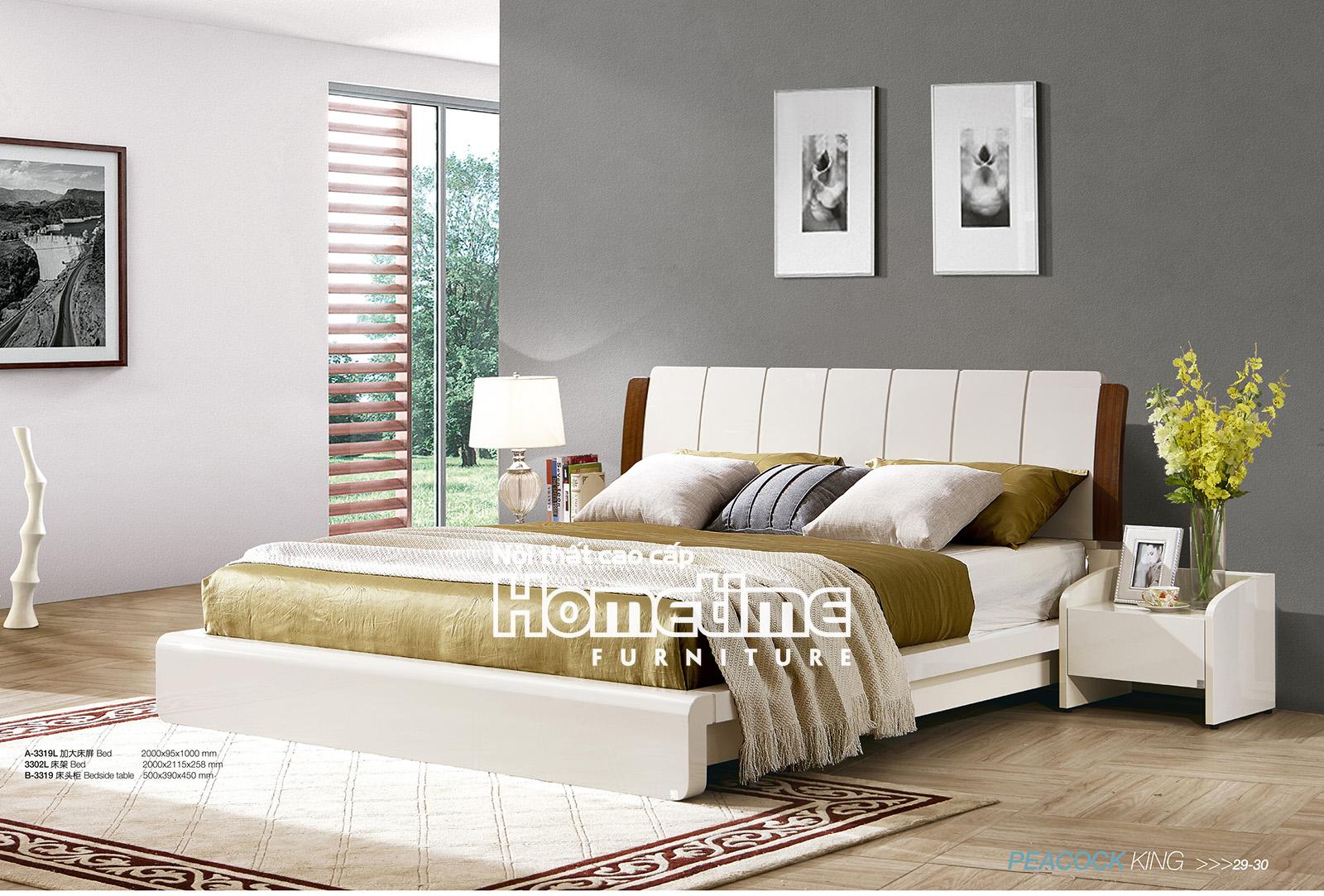 Giường ngủ nhập khẩu tại Hải Phòng - giường ngủ hiện đại GNK3319