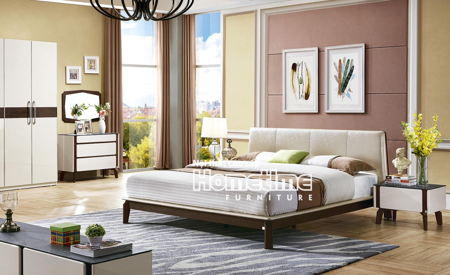 Giường ngủ nhập khẩu cao cấp Hải Phòng - GNK3325