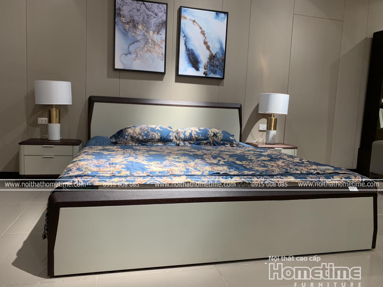 Giường ngủ nhập khẩu cao cấp Hải Phòng GNK1807A