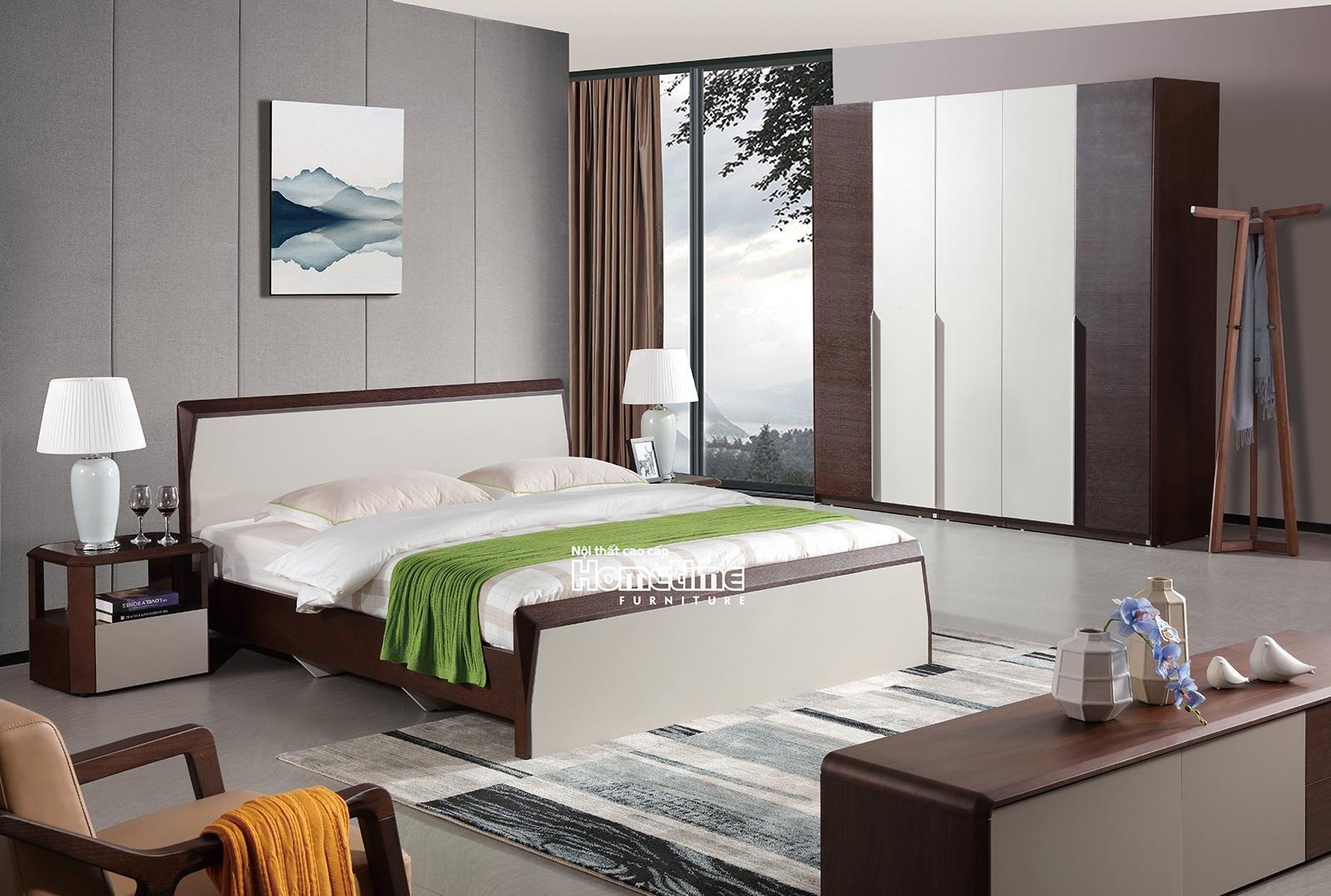 Giường ngủ nhập khẩu cao cấp Hải Phòng GNK1807