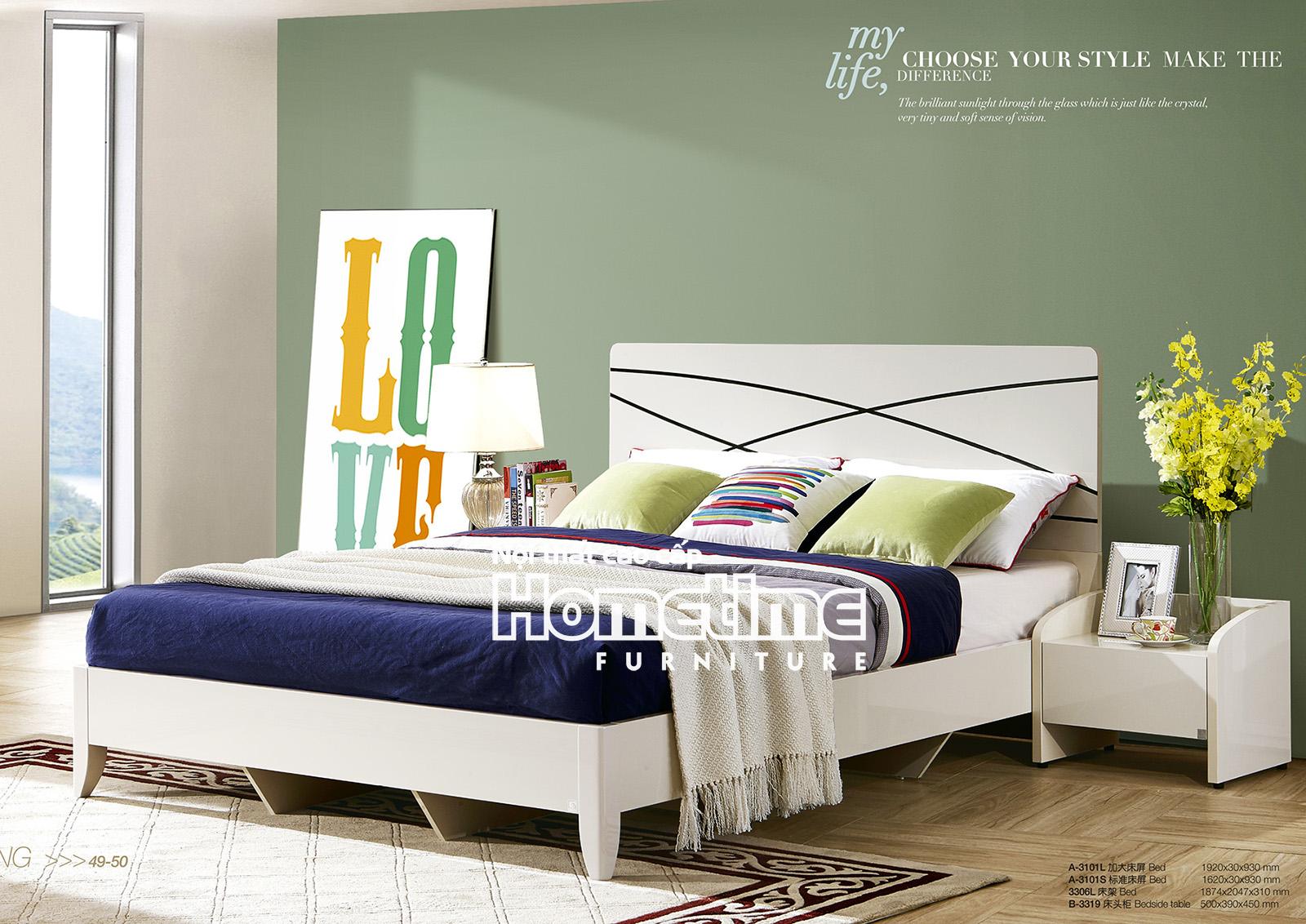 Giường ngủ nhập khẩu Hải Phòng Giường ngủ Hiện đại G3101