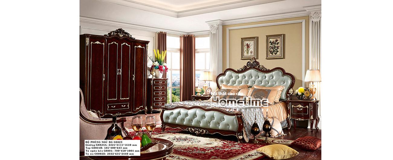 Giường ngủ tân cổ điển đẹp GNK8801