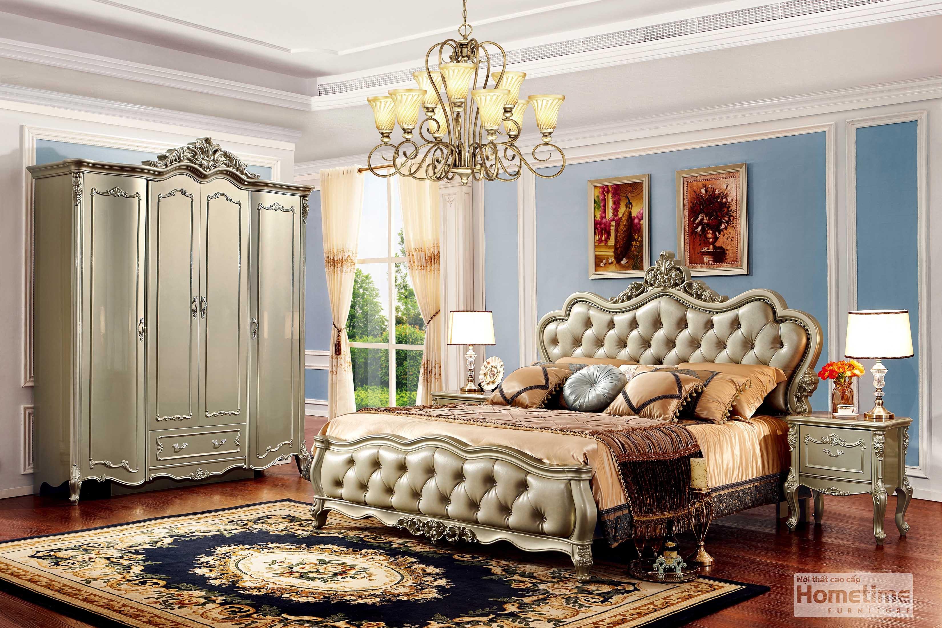 giường ngủ tân cổ điển Hải Phòng HT8023