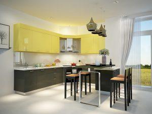 mẫu thiết kế tủ bếp gia đình đẹp tại Hải Phòng