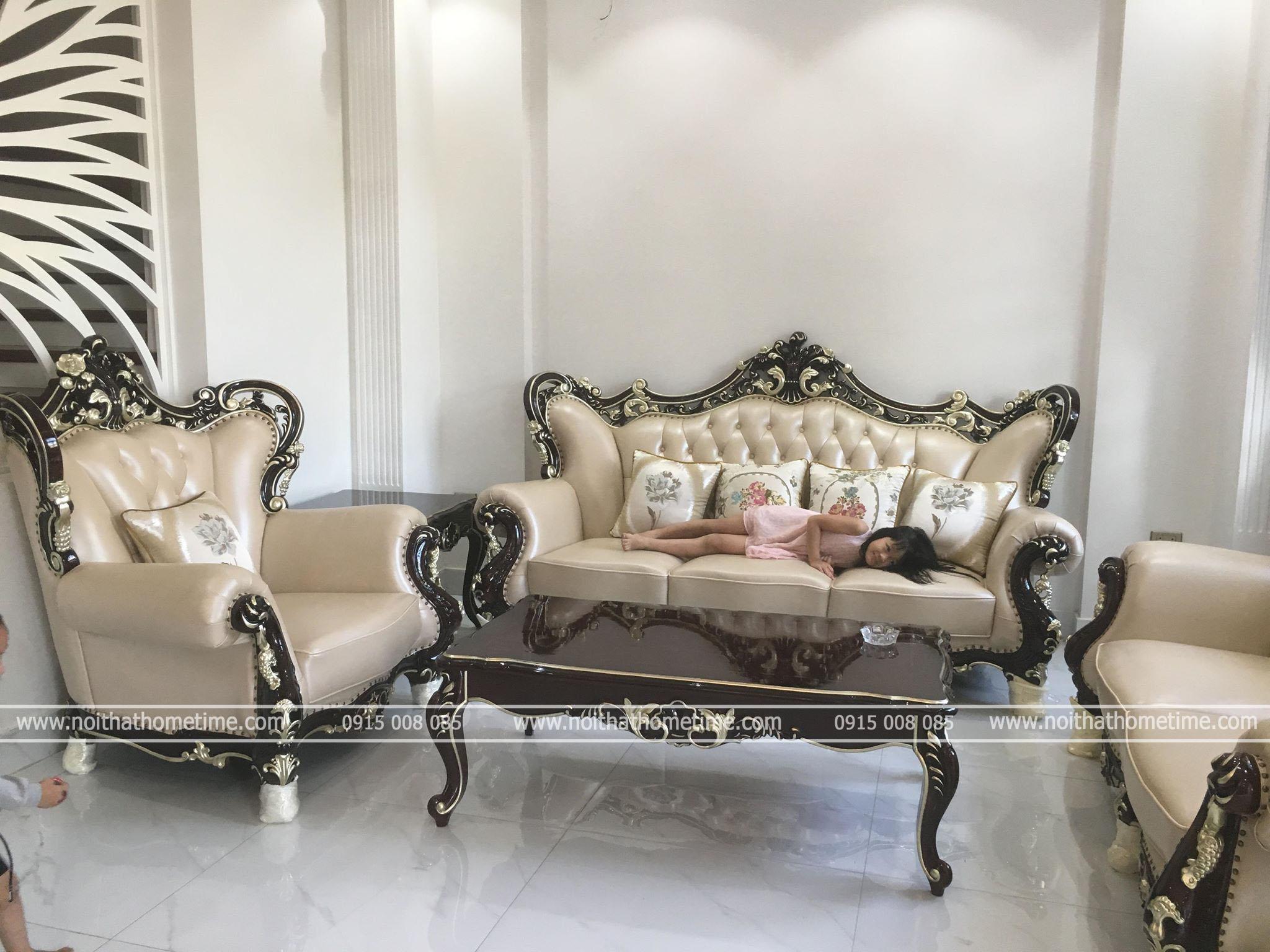 Bộ sofa tân cổ điển phong cách pháp sang trọng 921G