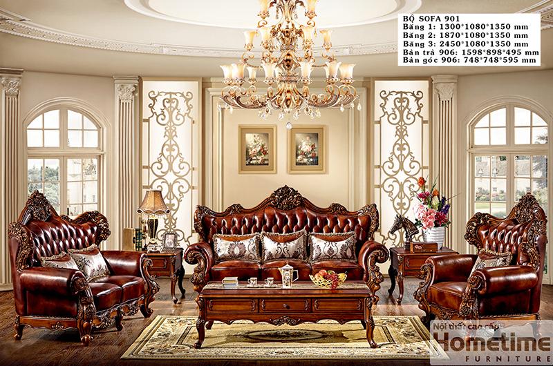 sofa màu nâu tân cổ điển Hải Phòng mã 901FS