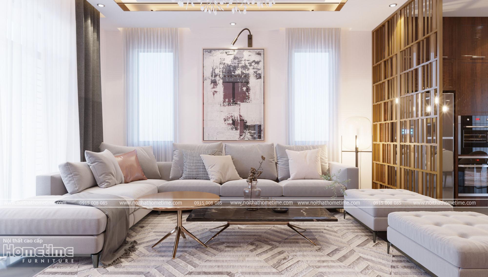 Hình ảnh thiết kế nội thất phòng khách đẹphiện đại