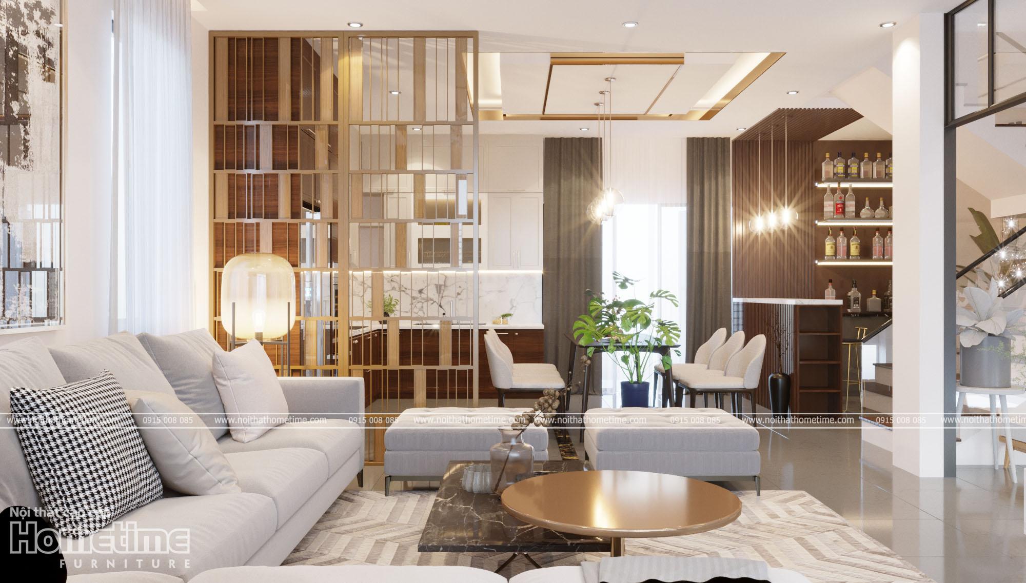 Hình ảnh thiết kế nội thất phòng khách đẹphiện đại 002
