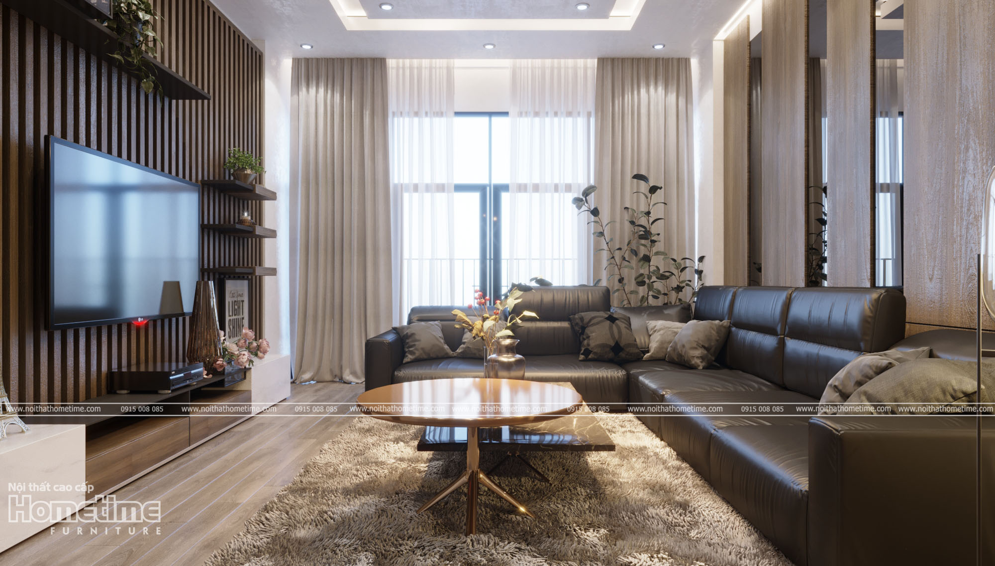 Hình ảnh thiết kế nội thất phòng khách đẹphiện đại 006