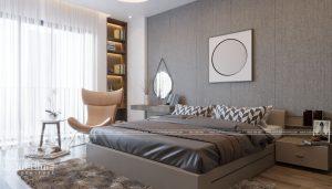 thiết kế cấu nội thất phòng ngủ mang phong cách hiện đại