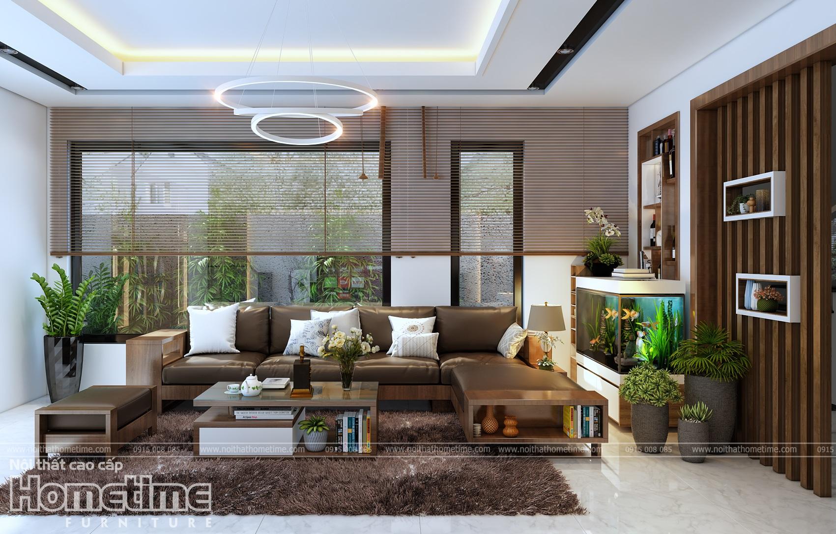 Thiết kế nội thất sofa phòng khách