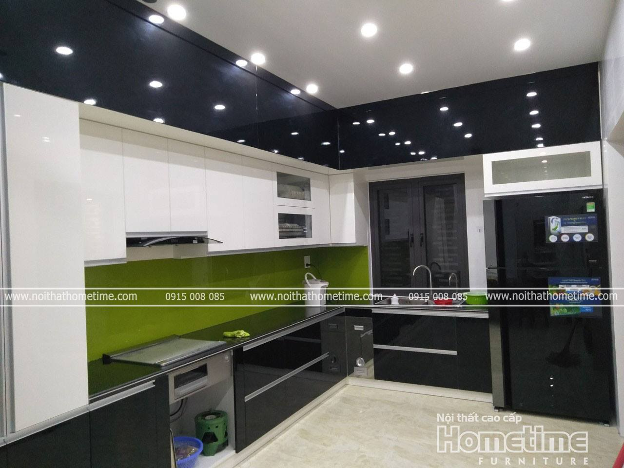 Tủ bếp nhựa phủ acrylic đẹp tại Hải Phòng
