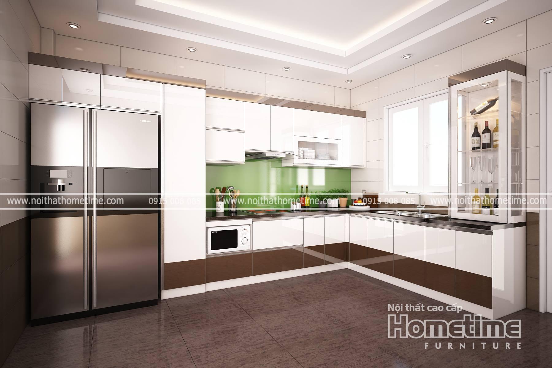 Tủ bếp đẹp nhà anh Tài Lâm Tường Hải Phòng