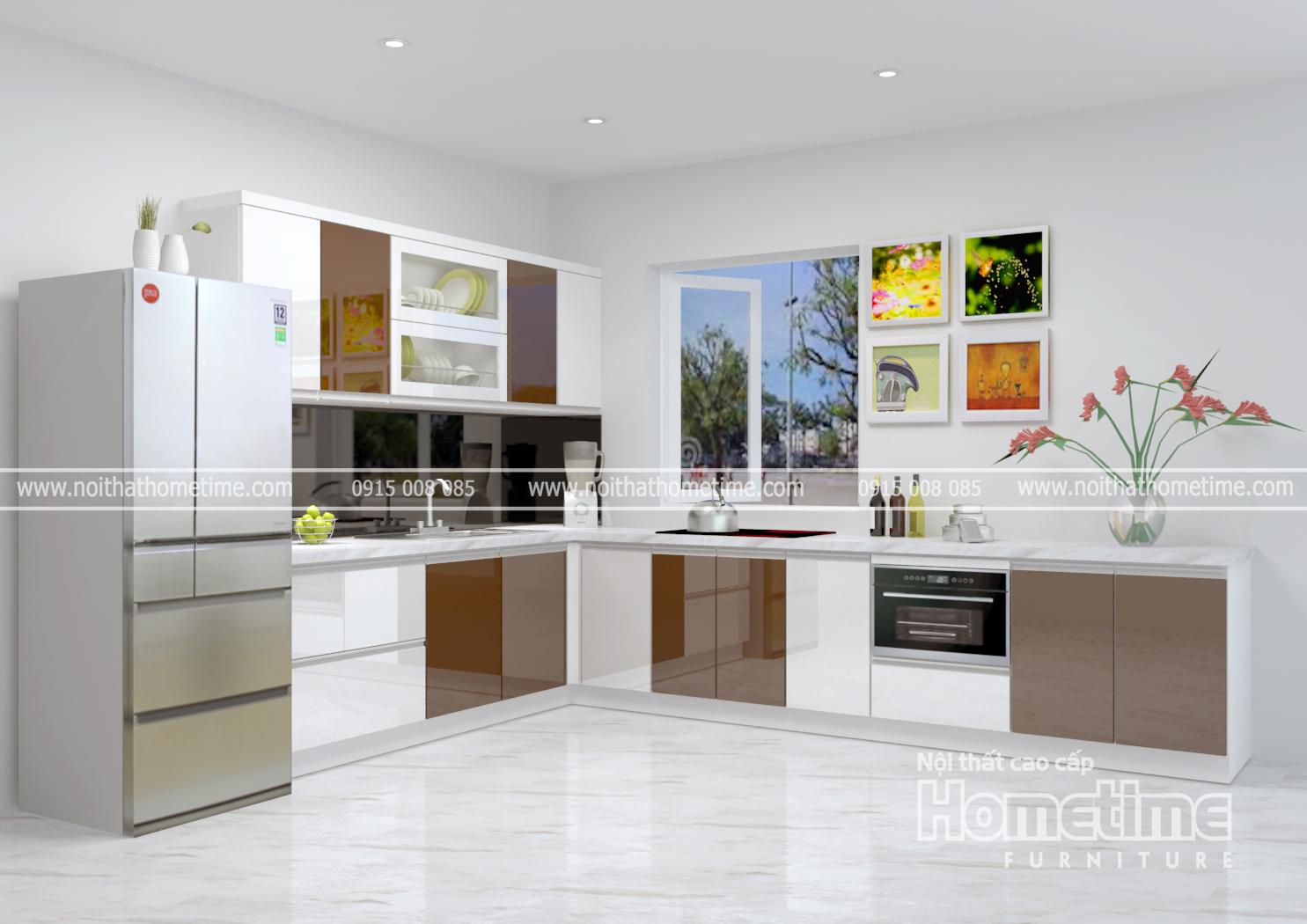tủ bếp nhựa acrylic Hải phòng đẹp