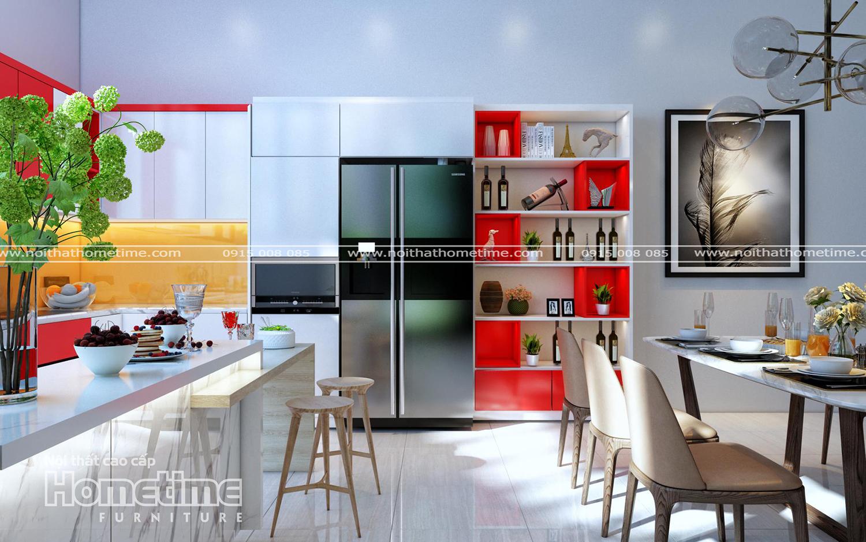 Thiết kế tủ bếp nhựa picomat