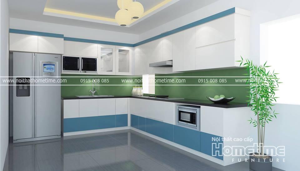 Tủ bếp nhựa cao cấp Hải Phòng 007