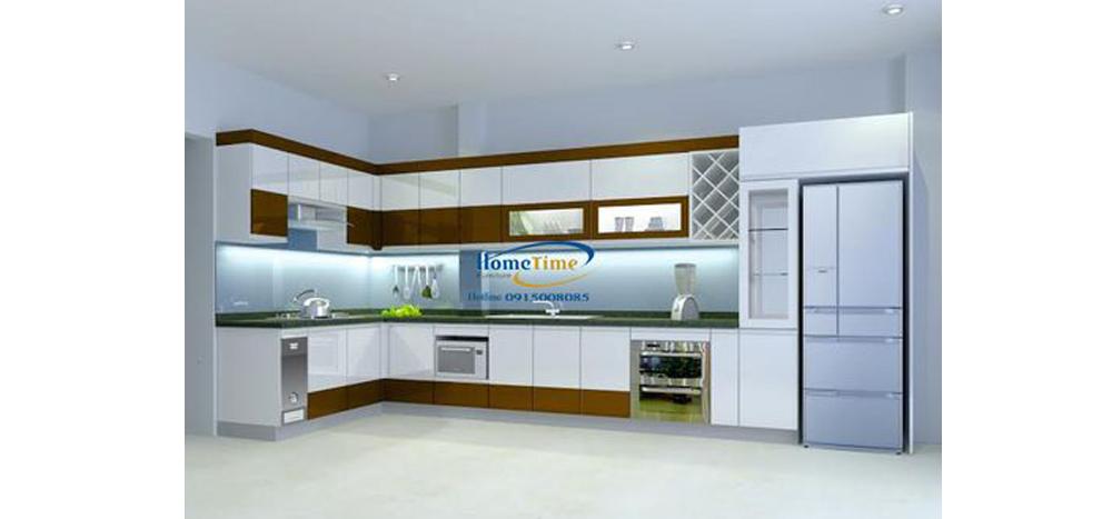 sản phẩm tủ bếp chữ L hiện đại Hải Phòng TN02