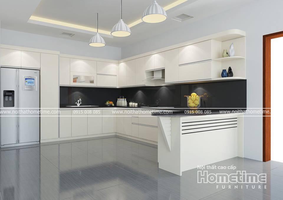 Tủ bếp nhựa Hải Phòng nhà cô Mai Hồng Bàng