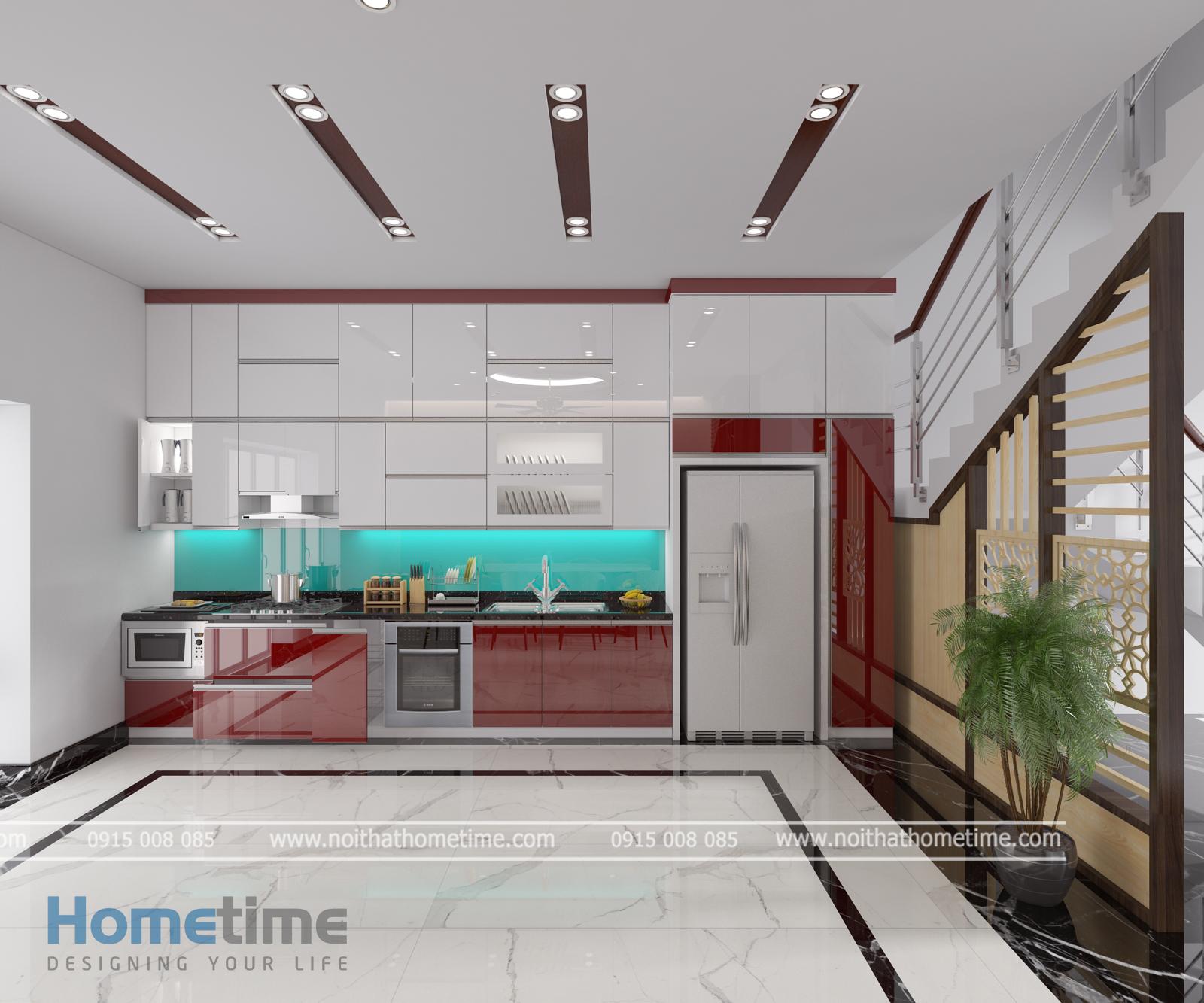 Tủ bếp nhựa kịch trần nhà cô Thúy Đằng Hải