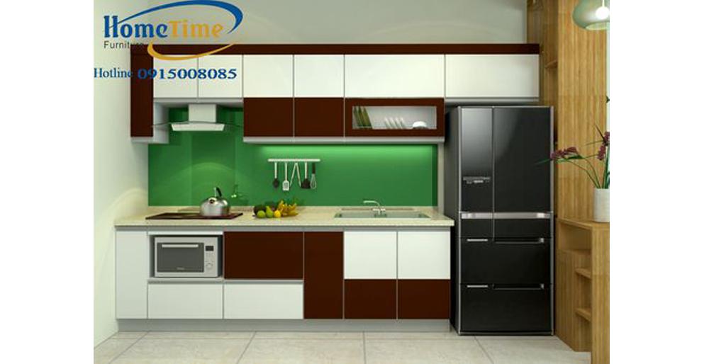 tủ bếp nhựa picomat sơn men cao cấp nhà anh Hòa TN10