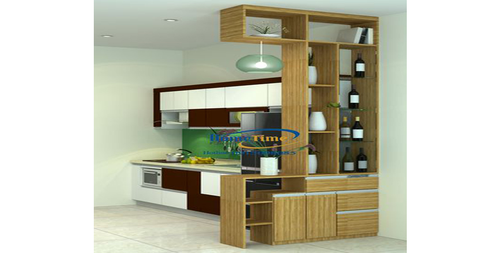 Mẫu tủ bếp cao cấp phù hợp với gian bếp nhỏ hẹp
