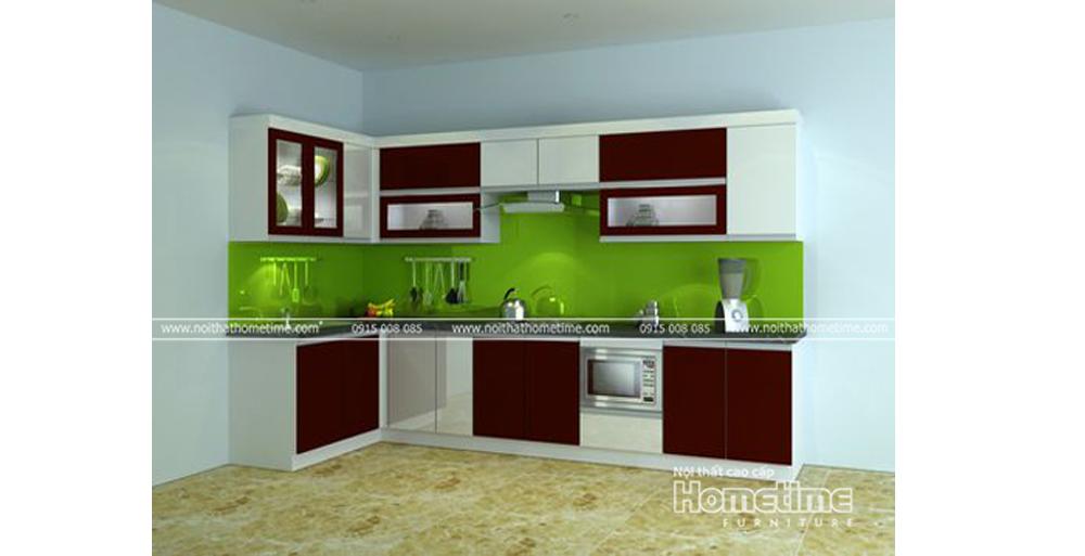 Mẫu tủ bếp nhựa đơn giản nhưng ấn tượng Hải Phòng TN13