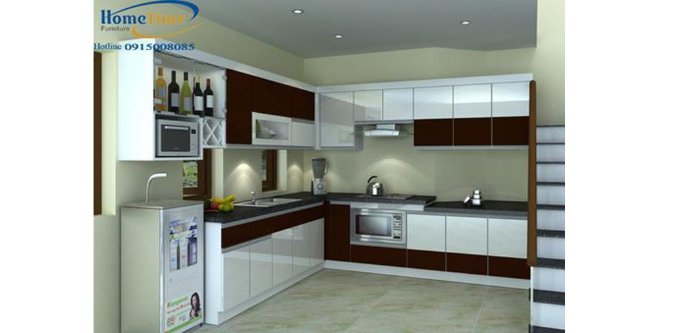 Thiết kế tủ bếp nhựa picomat uy tín tại Hải Phòng TN18