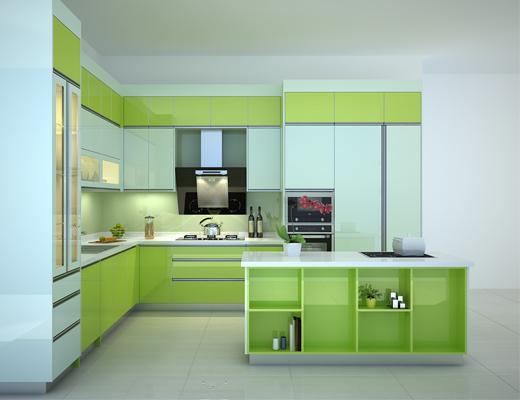 Thiết kế tủ bếp sơn men cao cấp tại Hải Phòng