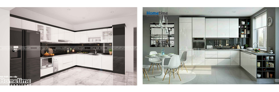 Thiết kế thi công tủ bếp nhựa acrylic quảng Ninh