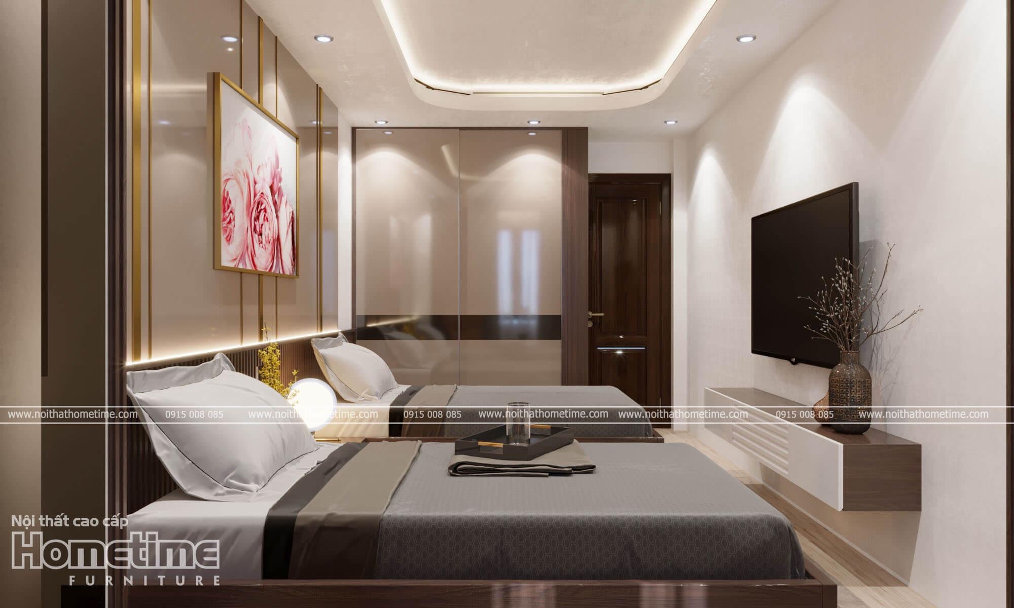Chất liệu thi công nội thất phòng ngủ gỗ MDF chống ẩm