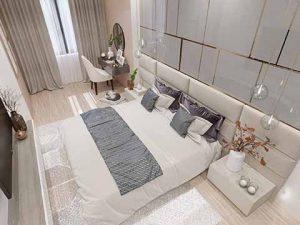 Thiết kế nội thất phòng ngủ nhà anh Long