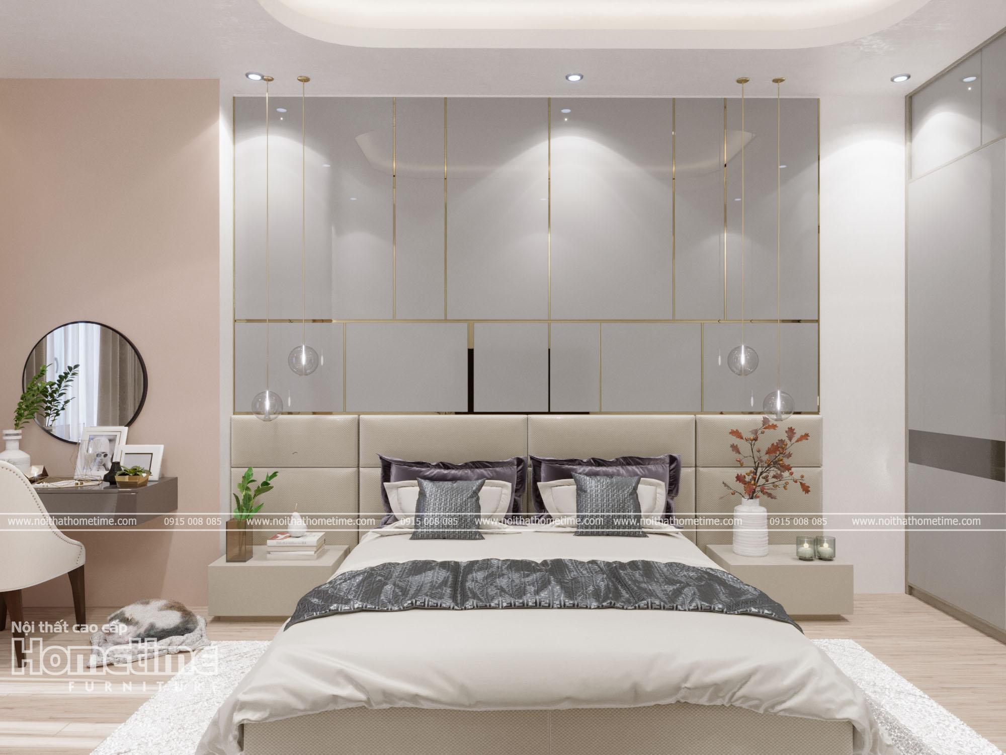 Nội thất phòng ngủ sử dụng chất liệu gỗ MDF chống ẩm