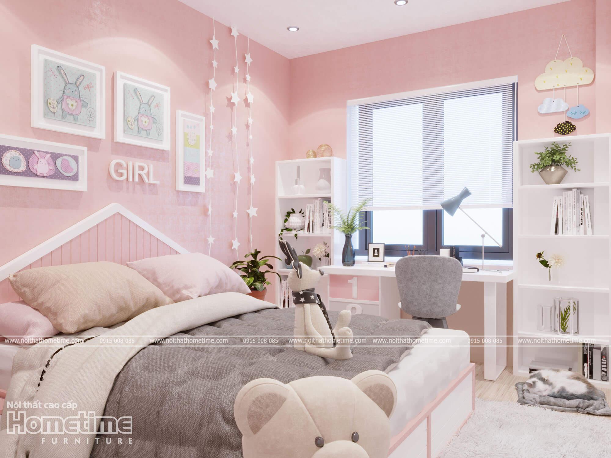 Thiết kế phòng ngủ với ô cửa số lớn đem đến không gian thoáng đãng cho căn phòng